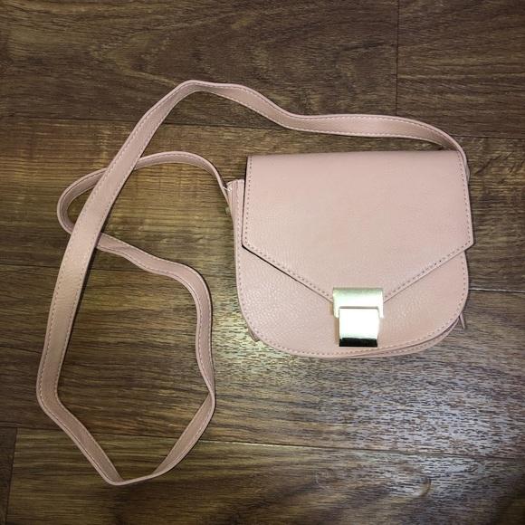 nude pink crossbody purse